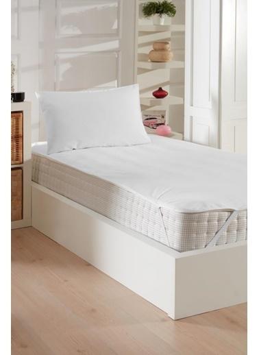 Decovilla  180x200 Micro Köşe Lastikli Sıvı Geçirmez Yatak Koruyucu Alez Beyaz